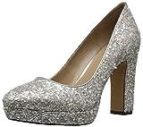 The Fix Women's Brooke High-Heel Platform Dress Pump, Silver Ice, 9 B US