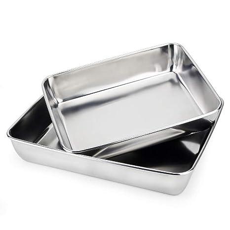 Amazon.com: Bakeware - Bandeja grande antiadherente para ...