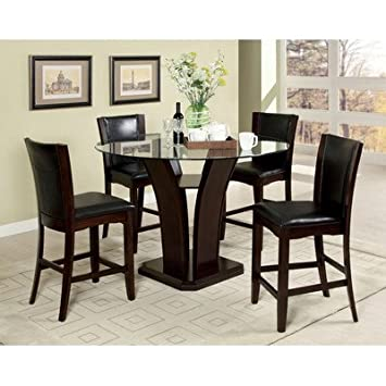 AmazoncomHokku Designs Uptown Counter Height 5 Piece Dining