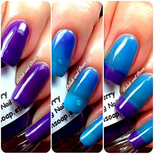 Amazon.com: Color Changing Thermal Nail Polish, Ombre Blue to Purple ...