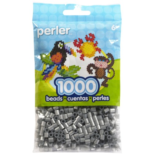 (Perler Beads Fuse Beads for Crafts, 1000pcs, Metallic Silver)