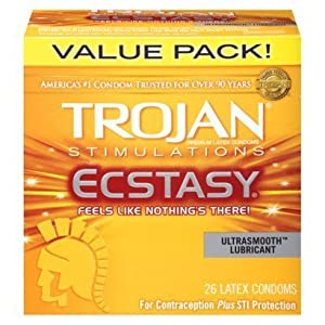 Trojan Condoms Ultra Smooth Ecstasy 10 Oz, Pack of 12