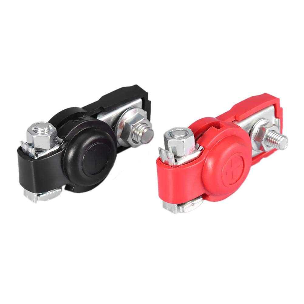 Battery Distribution Terminal 2Pcs Universal Car Battery Terminals Cable Terminal Clamps Connectors with Protective Cover