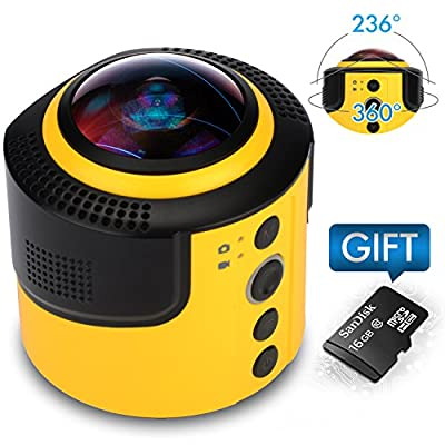 JoyPlus 360° Sports Video VR Cameras Spherical Panorama with Micro SD Card by DETU