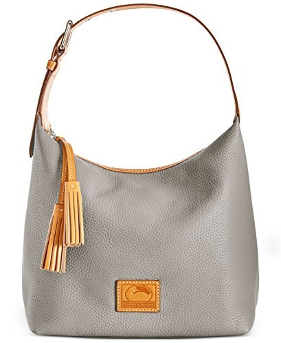 Dooney & Bourke Leather Hobo Bag - Dooney & Bourke Paige Sac Leather Hobo (Taupe)