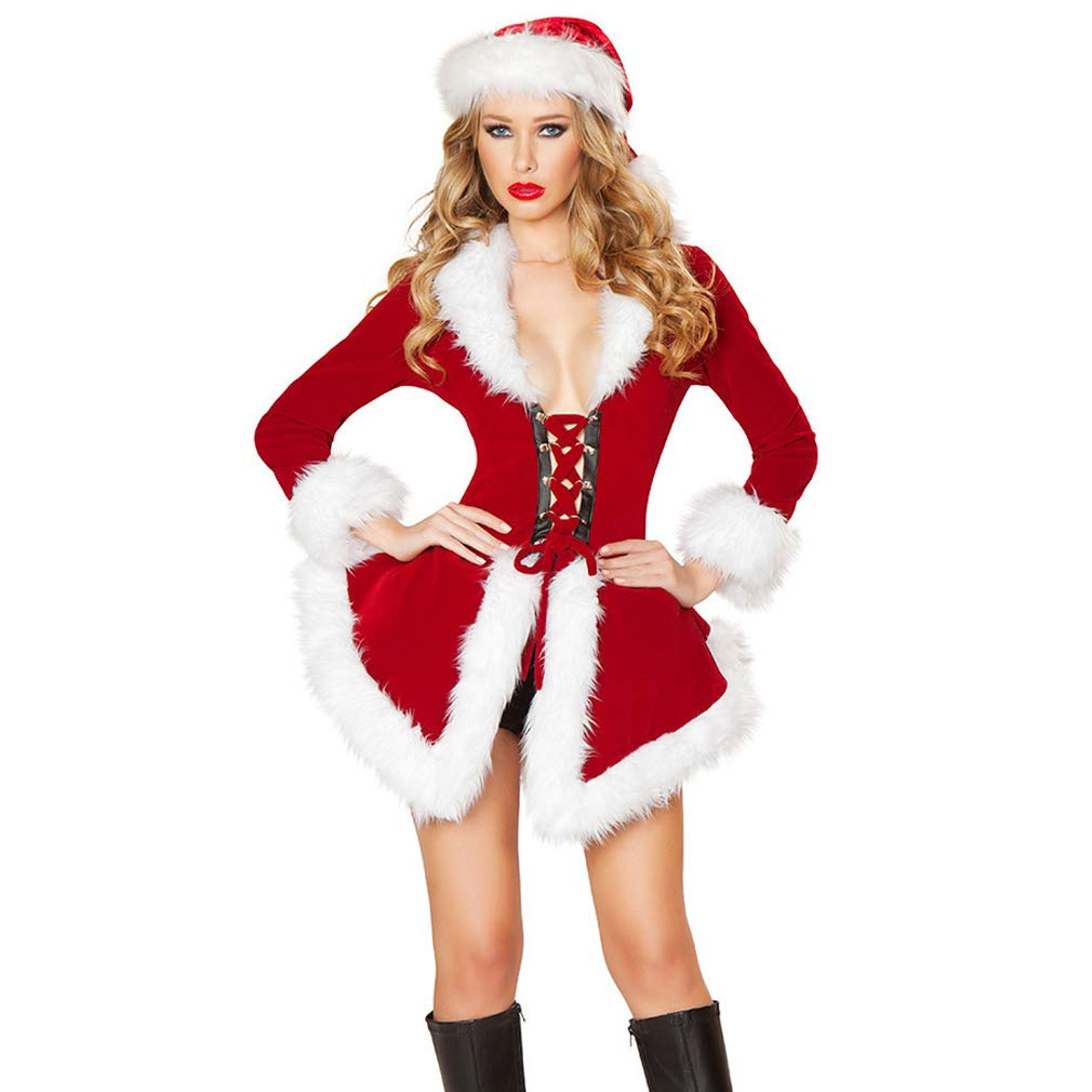 Mrs Claus Costume Adult Womens Santa Outfit Christmas Fancy Dress