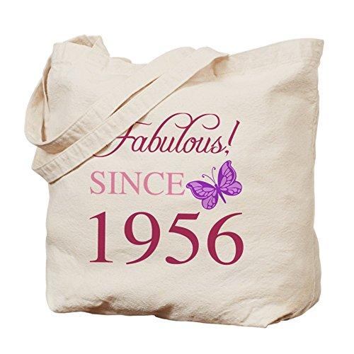 Cafepress–Fabulous dal 1956–Borsa di tela naturale, tessuto in iuta