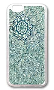 linJUN FENGApple Iphone 6 Case,WENJORS Adorable Emerald Green Navy Cream Floral Leaf doodle Soft Case Protective Shell Cell Phone Cover For Apple Iphone 6 (4.7 Inch) - TPU Transparent
