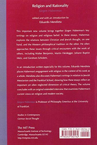 Religion and Rationality: Essays on Reason, God and Modernity (Studies in Contemporary German Social Thought)