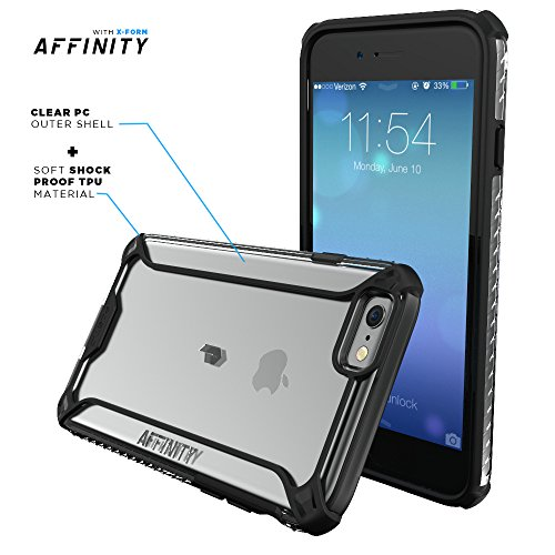 brand new 8c6b6 4760d iPhone 6S Plus Case, POETIC Affinity Series Premium Thin/No Bulk/  protection where its needed/Clear/Dual material Protective Bumper Case for  Apple ...