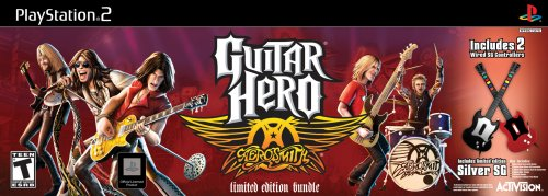 Guitar Hero Aerosmith Bundle with 2 Wired Guitars - PlayStation 2 (Guitar Aerosmith Ps2 Games)