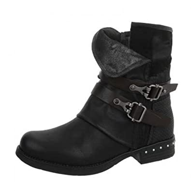 Femme Sexy Boutik Chaussures Tendance Bottine Boots Fashion Noire hQCBdxtors