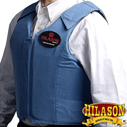 Rodeo Pro Horse - HILASON Small Bareback Pro Rodeo Horse Riding Protective Vest Denim Blue