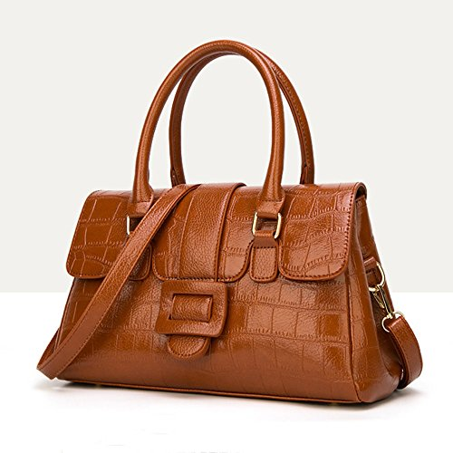 Crossbody Handbag Bag Tote Brown Shoulder Handle Bag Pu Multicolor Zipper Top Large For Women Leather Fashion Lady E4fUxw6qnO