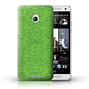 KOBALT? Protective Hard Back Phone Case / Cover for HTC One/1 Mini | Green Design | Insect Pattern Collection