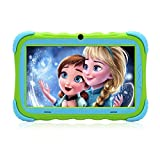 Kids Tablet - Android Tablet PC with 7 inch IPS Eye Protection Display 1GB+16GB WiFi Camera and Bluetooth Kids-Proof Children Tablets (Green)