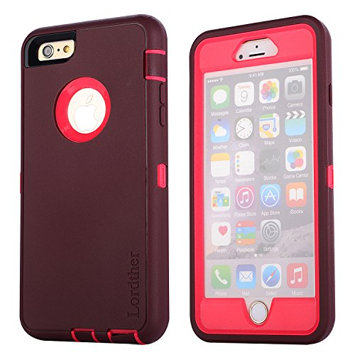 Lordther 5.5-Inch Armor ShieldOn Series Silicone TPU Case with Screen Protector for...