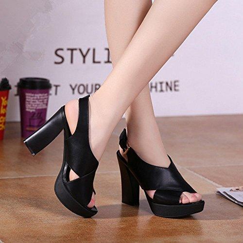 Sandalias BAJIAN Señoras Sandalias Verano heelsWomen Peep Zapatos Bajos Toe Chanclas LI Alto Zapatos Igrqxzw6I