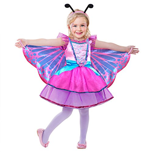 Butterfly Fairy Costume with Wings, headband (S (4-6T)) (Butterfly Costume For Girl)