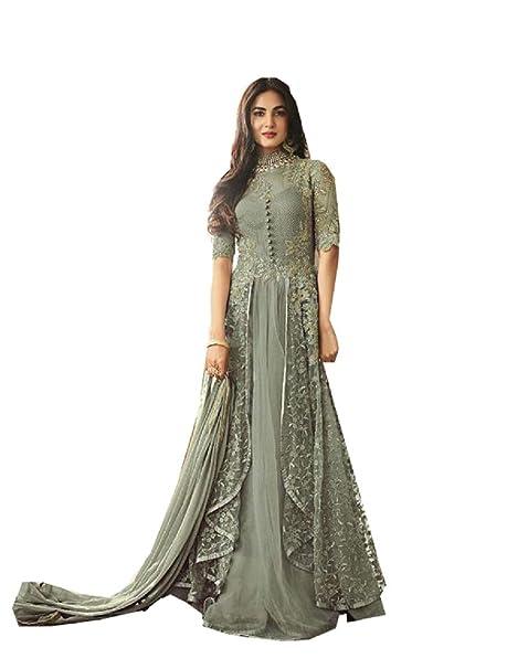 Stellacouture Party Wear Designer Indian Net Pakistani Anarkali Salwar Kameez For Women Vlt Black