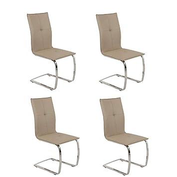 4 Stuck Stuhle Design Swing Aus Beschichtetem Stoff