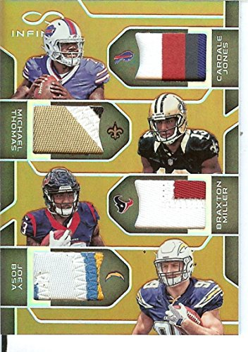 Football NFL 2016 Infinity RPS Quad Materials Prime #2 Braxton Miller/Cardale Jones/Joey Bosa/Michael Thomas MEM /8 by Infinity