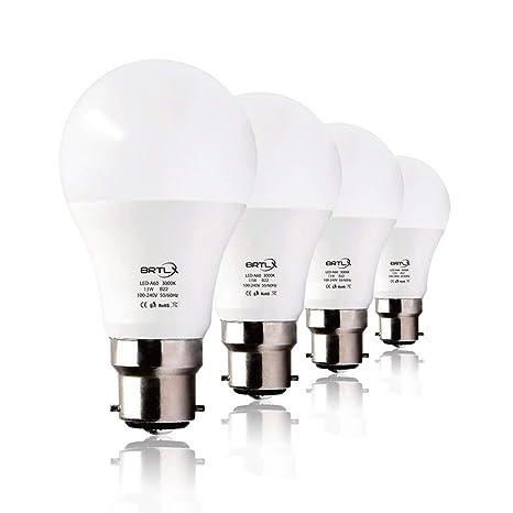 BRTLX 13W B22 Bombilla LED Blanco Cálido 3000K A60 Incandescente Equivalente a 100W Ángulo de haz