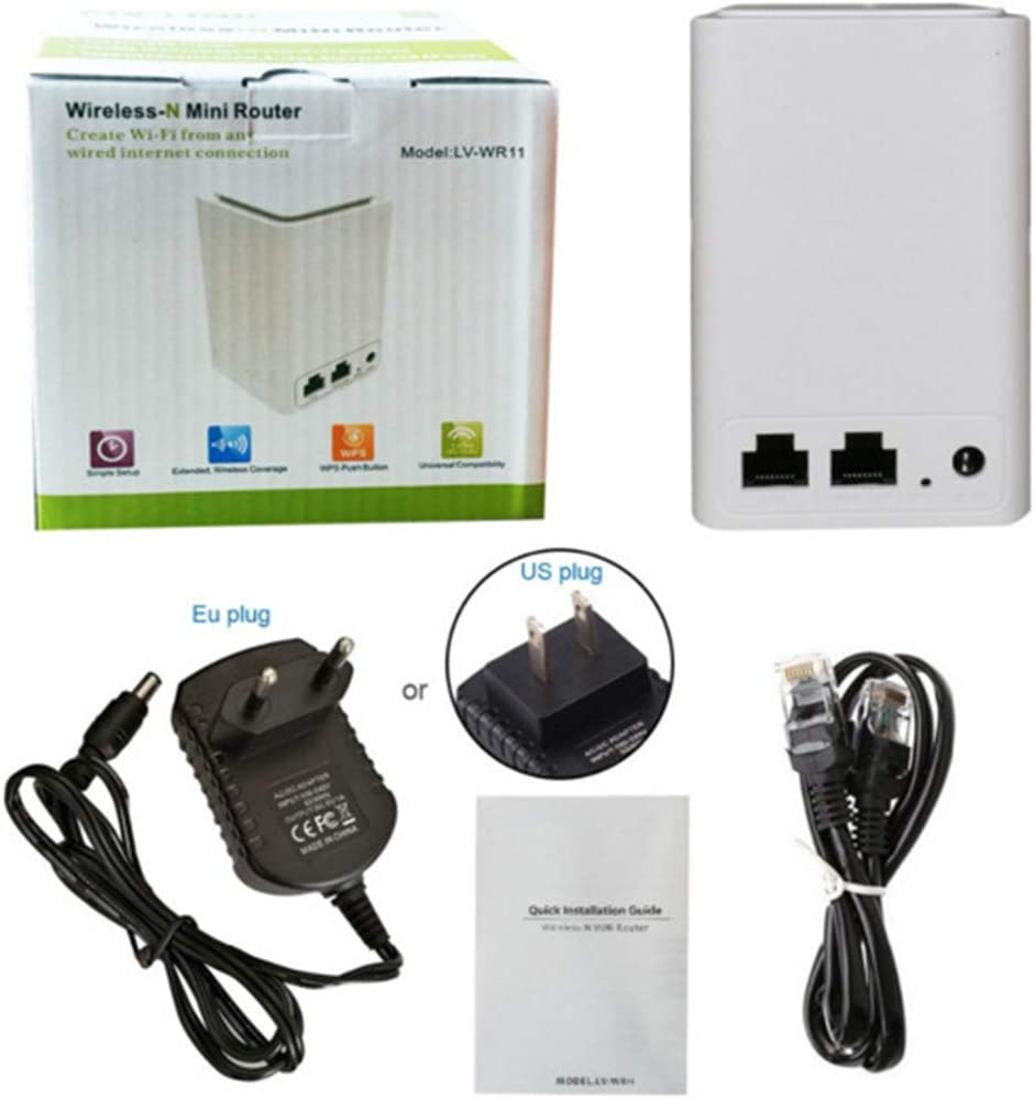 300M Wireless WiFi Signal Amplification Repeater Router AP WR11 1 Set