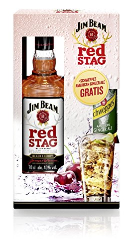 Jim Beam Red Stag mit Gratis Schweppes Ginger Ale Bourbon Whiskey (1 x 0.7 l)