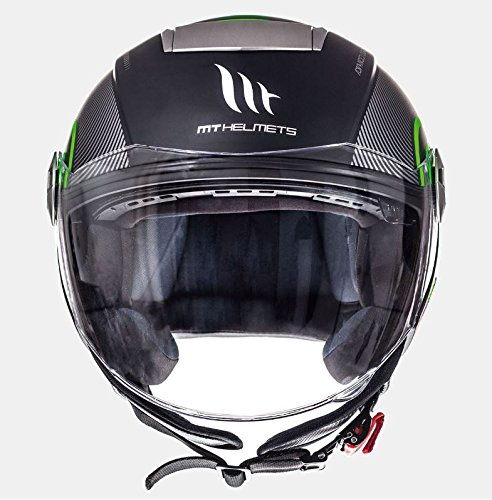 Amazon.es: MT - Casco Jet CITY ELEVEN SV TRON Verde Fluor Talla L + REGALO Antirrobo para DISCO de Freno RAPTOR