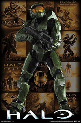 Trends International Halo Key Art Grid Wall Poster 22.375