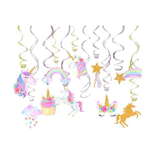 Decoración de 30 ct con diseño de unicornio para colgar, para fiestas, cumpleaños, fiestas