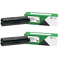 Lexmark C3210K0 Black Return Program Toner Cartridge 2-Pack for C3224, C3326, MC3224, MC3224, MC3326, BND02220
