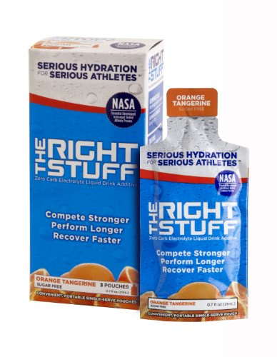 The Right Stuff® electrolyte drink additive Std - Retail 3-pouch box - Orange Tangerine