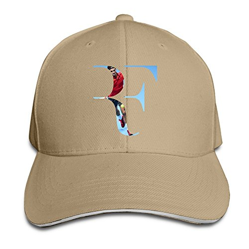 Price comparison product image Sunny Fish6hh Unisex Adjustable Roger Federer Baseball Caps Hat One Size Natural