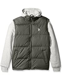 Men's Basic Vest With Fleece Hood and Sleeves