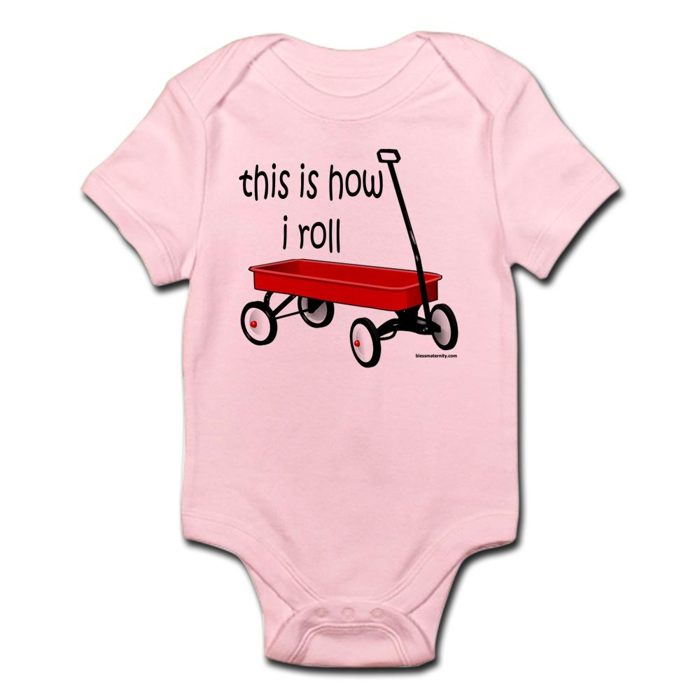 CafePress - LITTLE RED WAGON - Cute Infant Bodysuit Baby Romper