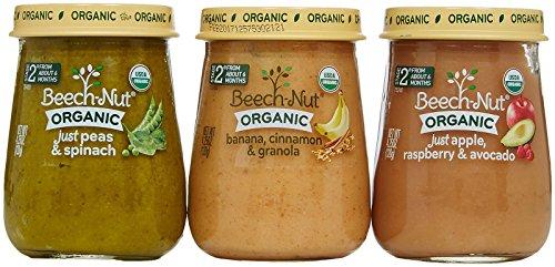 Paquete de variedad de haya-Nut orgánica etapa 2 bebé alimentos, 4,25 onzas (paquete de 10)