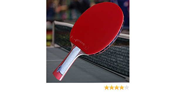 Gambler Custom Professional Table Tennis Paddle with IM7 Graphite Blade and Zero Rubber plus Blue Case