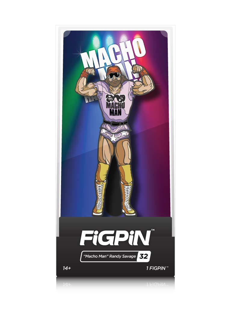FiGPiN WWE Legends: Macho Man Randy Savage - Collectible Pin with Premium Display Case by FiGPiN