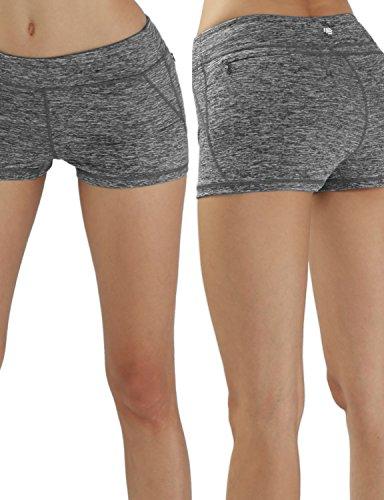 YogaReflex YOGARURU Women's Yoga Shorts Workout Running Active Short Hidden Pocket