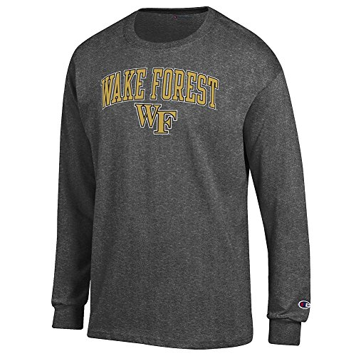 Elite Fan Shop Wake Forest Demon Deacons Long Sleeve Tshirt Varsity Charcoal - XXL