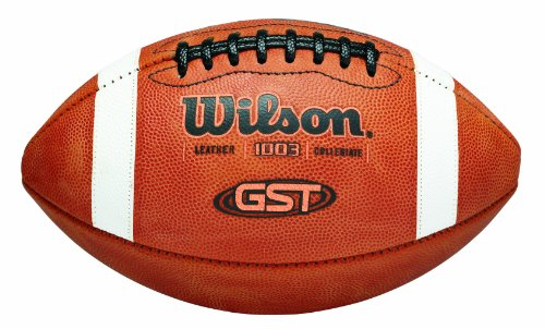 Wilson GST NCAA Leather Game Football (Leather Football Wilson)