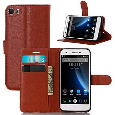 (Cases & Covers Embossed Card Wallet Bracket Type Protective Sleeve For Doogee F3 Mobile Phone (Color : Red))