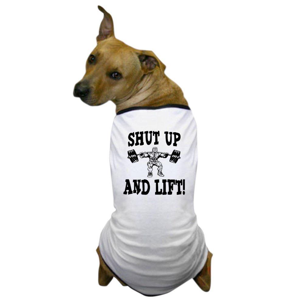 eebc569e Amazon.com : CafePress - Shut Up and Lift Weightlifting Dog T-Shirt - Dog T- Shirt, Pet Clothing, Funny Dog Costume : Pet Supplies