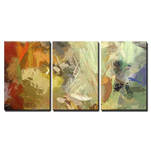 """Wall26 - 3 Piece Canvas Wall Art - Art Abstract Acrylic Background with Colorful Blots - Modern Home Decor Stretched and Framed Ready to Hang - 24\""""x36\""""x3 Panels"""