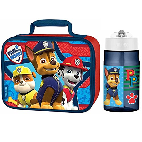 Thermos Paw Patrol 12 Oz Water Bottle w/Soft Lunch Bag