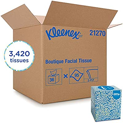 Kleenex Professional Facial Tissue Cube for Business 21270 Upright Face Tissue Box 36 Boxes  Case 95