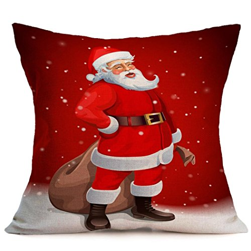 Pillow Cases ,IEason Clearance Sale! Christmas Cartoon Decoration Festival Pillow Case Cushion Cover (R) Christmas Items On Sale