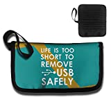 Life Is Too Short To Remove USB Safely Travel Wallet Passport Holder Document Organizer